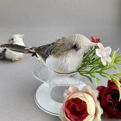 Птичка декоративная на проволоке (3)