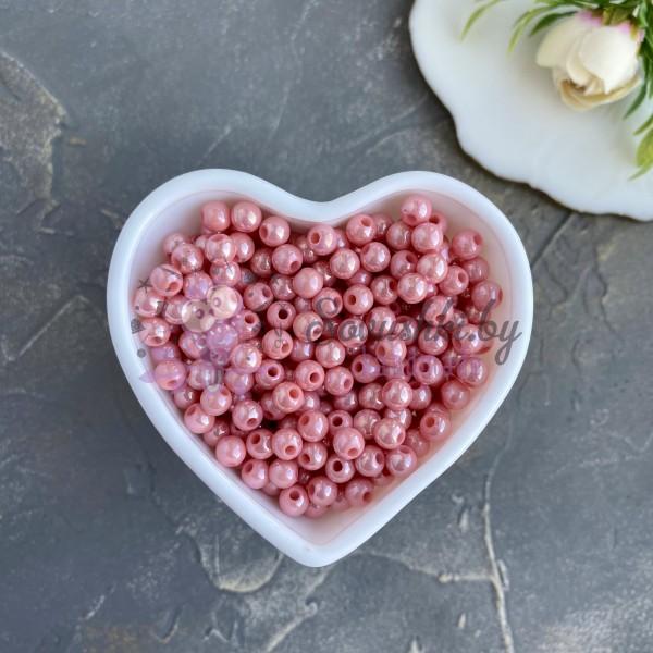 Бусины перламутровые 6 мм, розовый персик (10 гр)