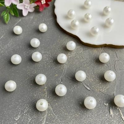 Бусины фактурные (10шт), белый