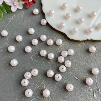 Бусины фактурные (10шт), нежно-розовый