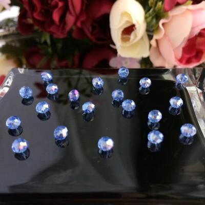 """Бусины стеклянные """"Rondellе"""" 4 мм, голубой"""