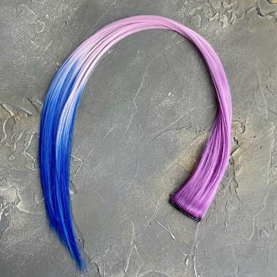 Прядь волос на заколке трехцветная №10