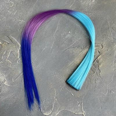 Прядь волос на заколке трехцветная №5