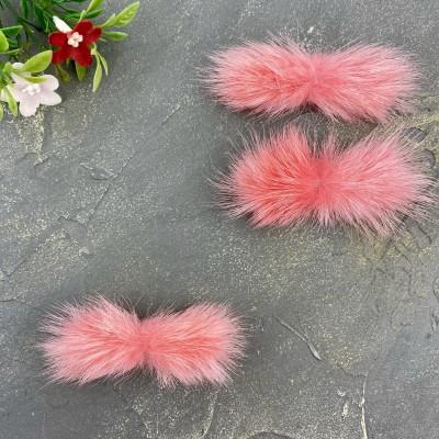 Меховые полоски, розовый