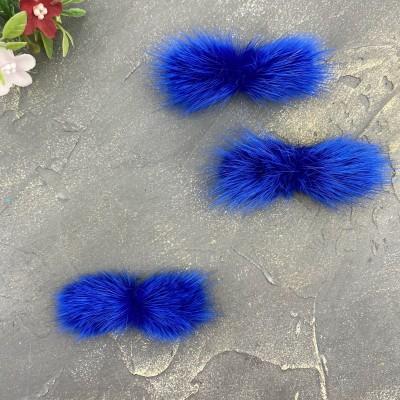 Меховые полоски, синий