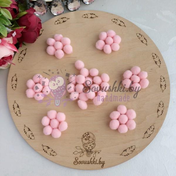 Помпоны Premium 1 см, розовый персик