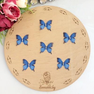 Шифоновые бабочки со стразами маленькие 3 см (71)