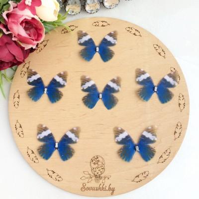 Шифоновые бабочки со стразами средние 4.5 см (24)