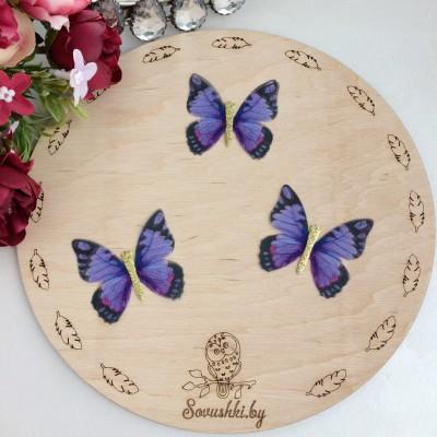 Шифоновые бабочки с блестками средние 4.5 см (84)