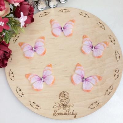 Шифоновые бабочки со стразами средние 4.5 см (54)
