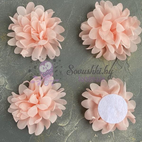 Цветочек шифоновый, персиковый