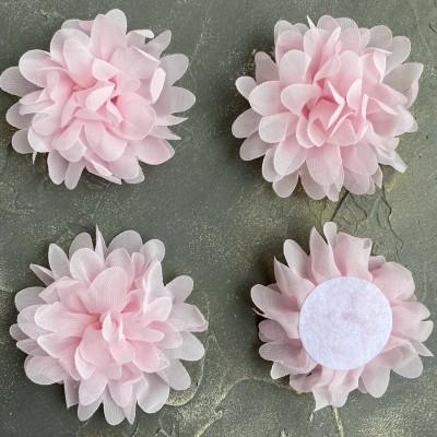 Цветочек шифоновый, светло-розовый