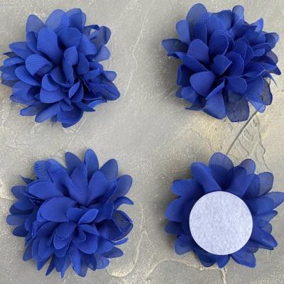 Цветочек шифоновый, синий