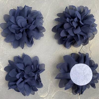 Цветочек шифоновый, темно-синий