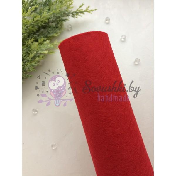 Фетр мягкий 1 мм, темно-красный
