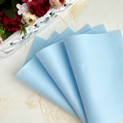 Корейский фетр мягкий 1 мм Royal (RN45), бледно-голубой