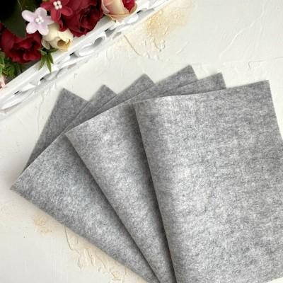 Корейский фетр мягкий 1 мм Royal (RN03), серый меланж