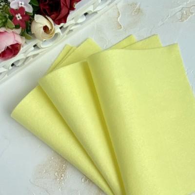 Корейский фетр мягкий 1 мм Royal (RN07), лимонный