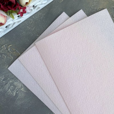 Корейский фетр жесткий 1,2 мм Solitone (827), бледно-розовый