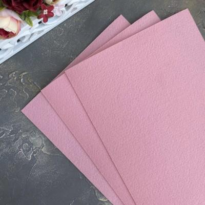 Корейский фетр жесткий 1,2 мм Solitone (907), пудрово-розовый