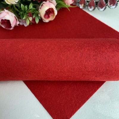 Фетр жесткий 1 мм, темно-красный