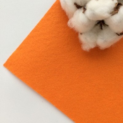 Фетр жесткий 1 мм, ярко-оранжевый