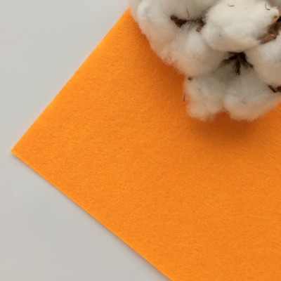 Фетр жесткий 1 мм, оранжевый