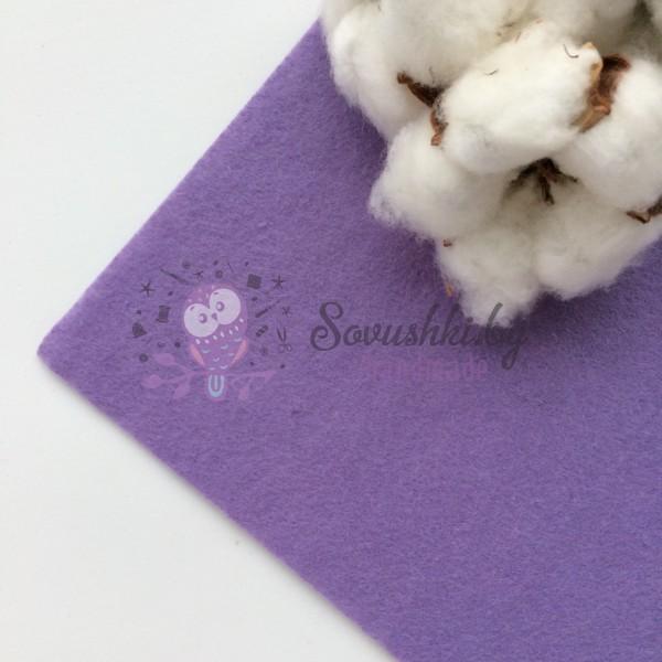 Фетр жесткий 1 мм, светло-фиолетовый