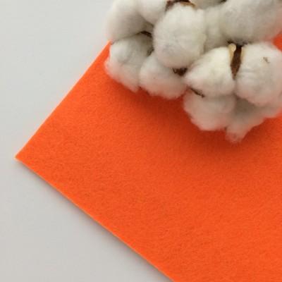 Фетр жесткий 2 мм, оранжевый