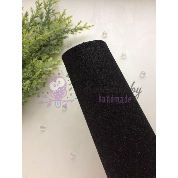 Глиттерный фоамиран 2 мм Premium, черный