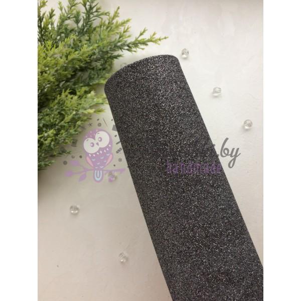 Глиттерный фоамиран 2 мм Premium, графит