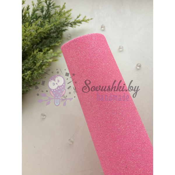 Глиттерный фоамиран 2 мм Premium, светло-розовый
