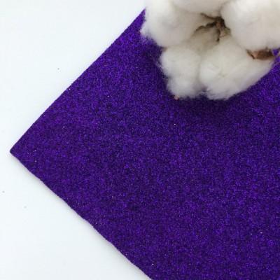 Глиттерный фоамиран 2 мм Premium, темно-фиолетовый