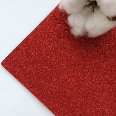Глиттерный фоамиран 2 мм Premium, красный