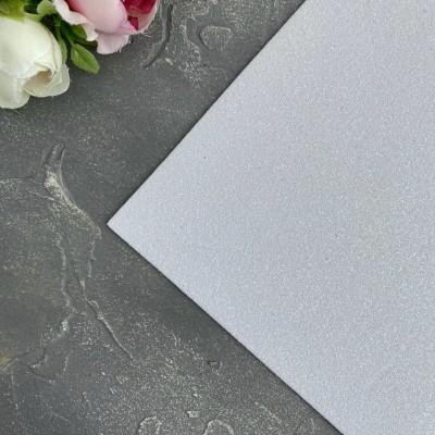 Глиттерный фоамиран 1,5 мм белый перламутр