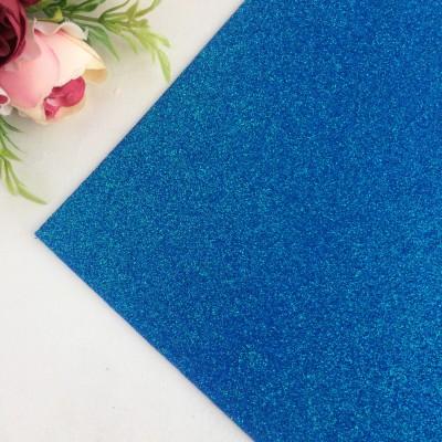 Глиттерный фоамиран 2 мм Premium, синий №2