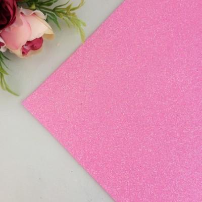 Глиттерный фоамиран 2 мм Premium, светло-розовый перламутр