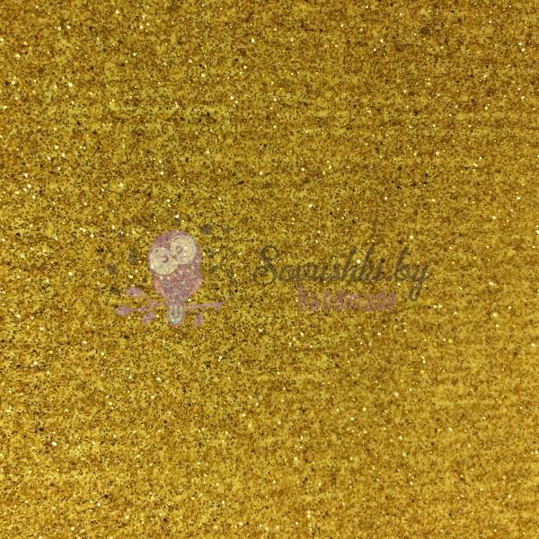 Иранский глиттерный фоамиран 60х70 см, золото