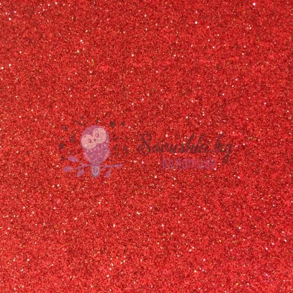 Иранский глиттерный фоамиран 60х70 см, светло-красный