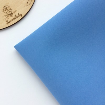 Китайский фоамиран 1 мм светло-синий