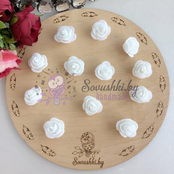 Роза из фоамирана, белый