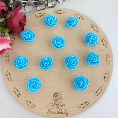 Роза из фоамирана, голубой