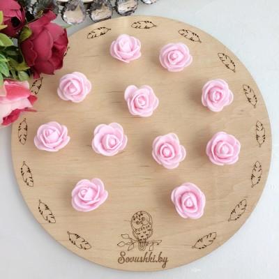 Роза из фоамирана, светло-розовый