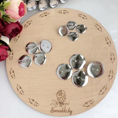 Заготовка для брошек с гнездом, серебро