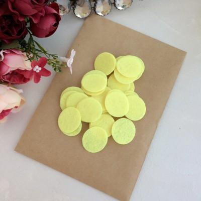 Фетровые кружочки 2.5 см желтые