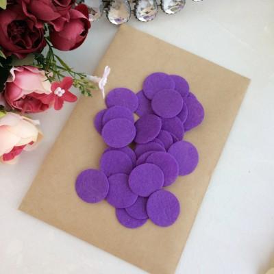Фетровые кружочки 2.5 см фиолетовые