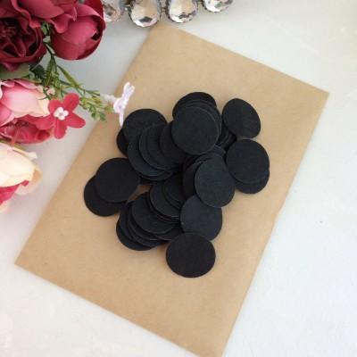 Фетровые кружочки 2.5 см черные