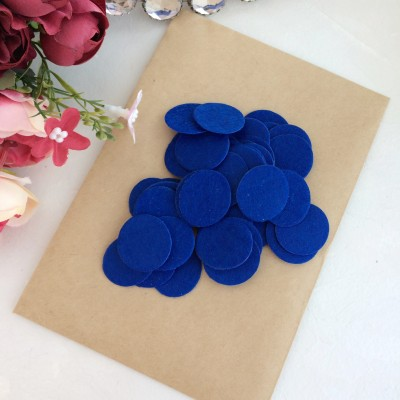 Фетровые кружочки 2.5 см синие