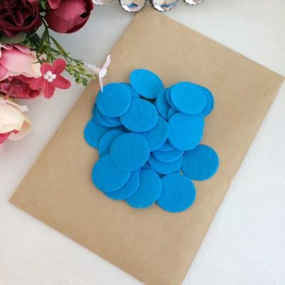 Фетровые кружочки 2.5 см голубые