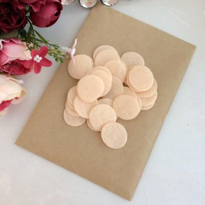 Фетровые кружочки 2.5 см персиковые